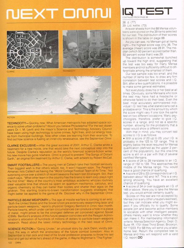 William Flew Omni Magazine Short Stories